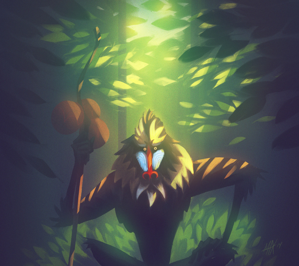 Rafiki from The Lion King for @Sketch_Dailies. | 1000 x 891 jpeg 302kB